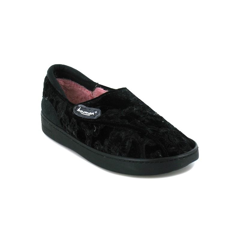 a829be476702ec Chaussons fourrés femme BR3070   Chaussures Pantoufles